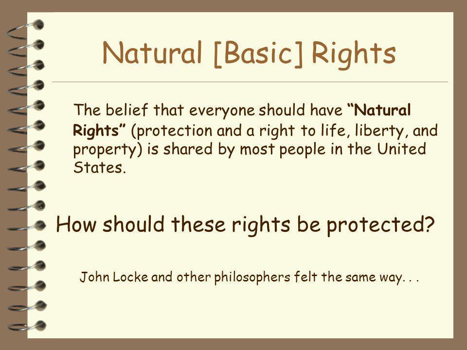 Natural [Basic] Rights